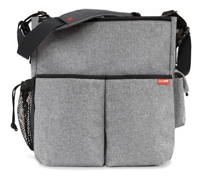 This Skip Hop Duo Essential Diaper Bag In Heather Gray Black And Charcoal Is A Great Uni Option