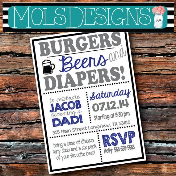 Diaper Party Invites was adorable invitations sample
