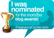 mom2be blog awards by Pregnancy Corner.com